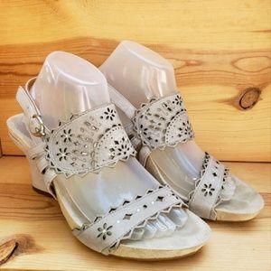 Earthies 9 Rosarito Leather Heels Slingback Sandal
